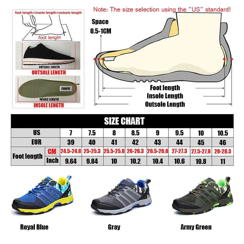 2019 новая обувь для пешего туризма мягкая Нескользящая амортизирующая Пеший Туризм обувь Для мужчин летние мужские дышащие, с сеткой кроссовки