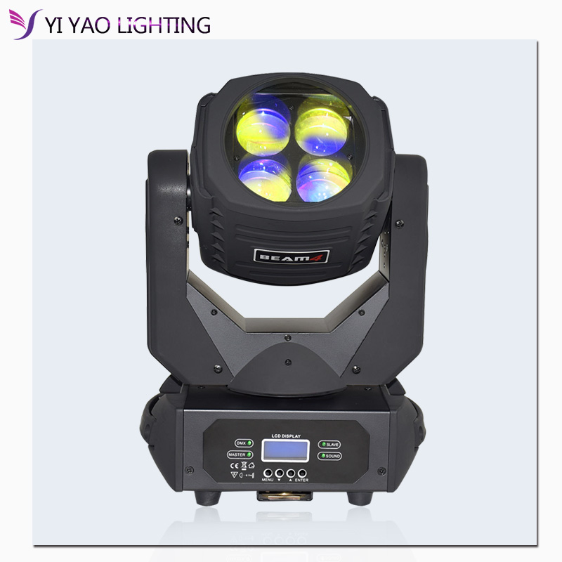 Super Beam 4x25W Moving Head Light For Bar Effect Led Stage Lighting