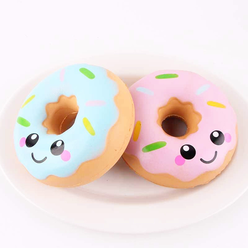 Models Squeeze Toys Mini  Squishy  Lovely Doughnut Cream Anti-stress Ball Squeeze Soft Sticky Stress Relief Funny Gift Toy L1217