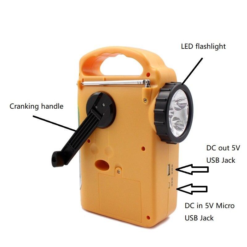 alimentado fm am rádio telefones carregadores lanterna led
