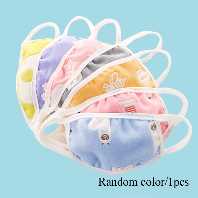 1PCS Cotton Mouth Mask Washable Anti Dust Protective Reusable Cold Prevention Face Mask For Kids Health Windproof Masks Random