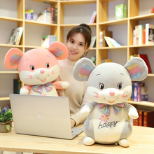 цена на Hot New Cute Mouse Plush Toy Stuffed Soft Animal Mouse Rat Doll Pillow Kawaii Birthday Gift for Children Lovely Kids Baby Toy