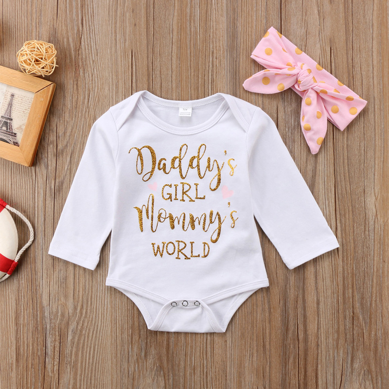 Newborn Baby Girl Clothes Sets Letter Printed Hello World Tops Flora Romper+Arrow Pants+Hat 3PCS Infant Girl Clothing Outfit Set