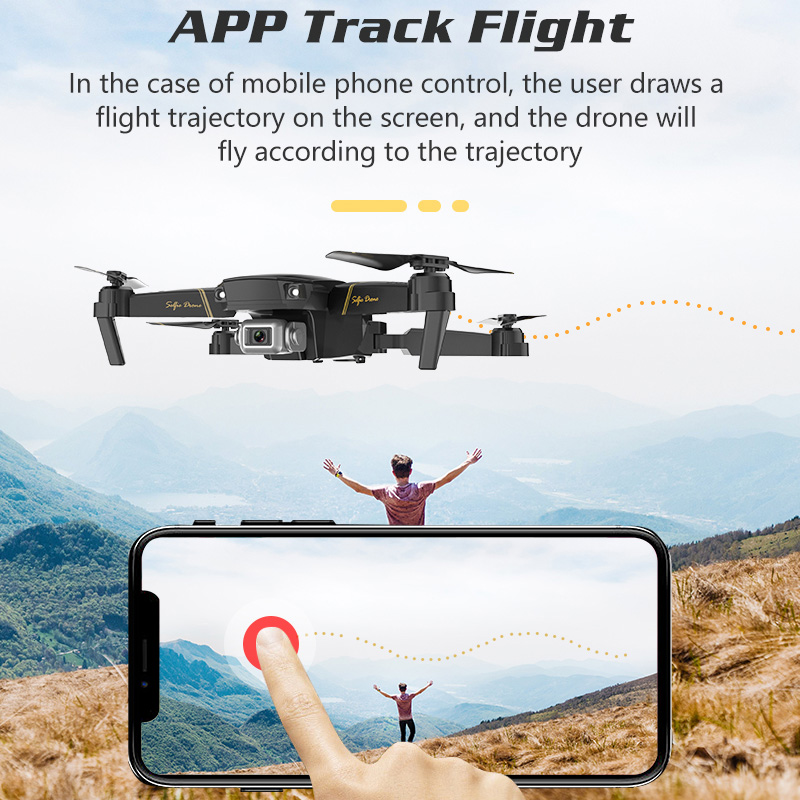 Складной Дрон с камерой HD 1080 P/480 P RC Квадрокоптер с Wi-Fi FPV gps RC вертолет с режимом головы высокой фиксации детская игрушка# E