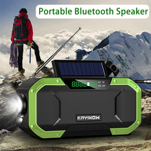 Bluetooth Speaker Generator Radio Emergency Radio Outdoors Radio Waterproof Wireless Convenience