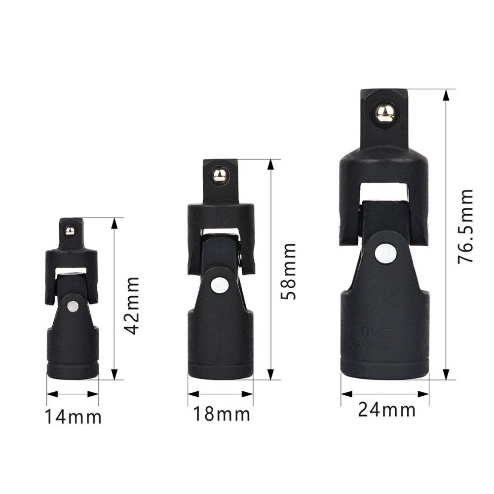 """3 pièces 1/4 """"3/8"""" 1/2 """"Standard courte prise pneumatique métrique mur profond Air Adopter jeu de douilles à Impact outil de clé de réparation automatique"""