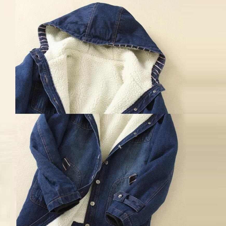 2019 Warm Winter Lange Bomberjack Vrouwen Kapmantel Jeans Denim Jassen Basic Dames Windjack Vrouwelijke Grote Plus Size 5XL