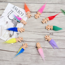8cm Mini Trolls Doll Action Figures Toy 10pcs/lot Plastic Classical Models Dolls Spirits Boys Girls Funs Gift Toys for Children
