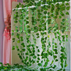 2.2M Long Artificial Green Plant Ivy Leaf Artificial Vine Fake Creeper Leaf Leaves Family Wedding Bar Hanging Plant Home Decor