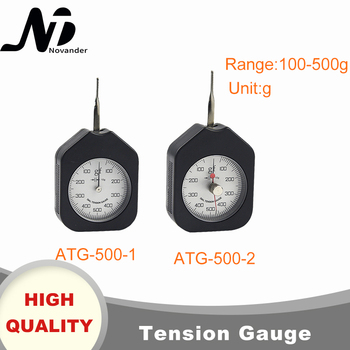 цена на Free Shipping 500g Dial Tension Gauge Analog Tensiometer Tension Tester Single Needle Double Needles