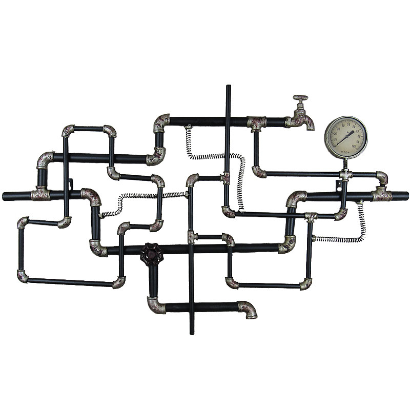 Industry Fengshui Tube Decorate Originality Bar Metope Wall Hanging Shop Wall Iron Art Pendant Wall Ornament