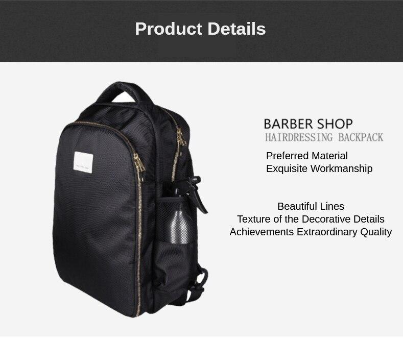 Ferramentas de cabeleireiro mochila grande capacidade barbeiro