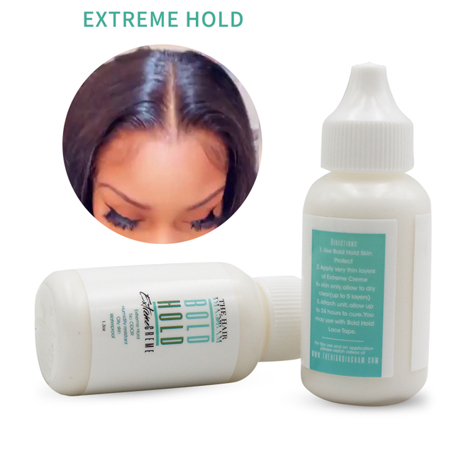 THE HAIR DIAGRAM BOLD HOLD EXTREME CREAM 1.3OZ LACE GLUE ADHESIVE 3