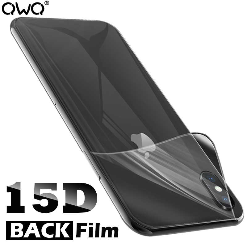 15D Full Cover Curved Back Film For iPhone 7 8 Plus XR X XS MAX 6 6S 8Plus 7Plus Screen Protector Hydrogel Film Not Glass