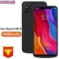 6000 мАч Расширенный чехол для телефона с аккумулятором для Xiaomi Mi 8 Чехлы для внешнего аккумулятора для Xiaomi mi 8 портативная Крышка для зарядног...