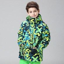 цена на Gsou Snow Ski Jacket for Boys Girls Winter Children Tops Super Warm Windproof Waterproof Ski Jacket Kids Skiing Snowboard Coat