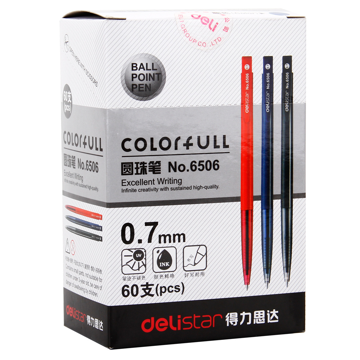6506 Automatic Ballpoint Pen Click-Type 0.7mm Writing Red Black Ballpoint Test gel Pen Office Supplies Learning Stationery
