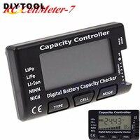 7 Digital Battery Capacity Checker LiPo LiFe Li-ion Nicd NiMH Battery Voltage Tester Checking Capacity Controlle