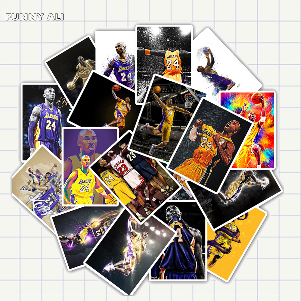 25pcs/Pack Basketball Stickers Kobe Bryant Sticker Waterproof Kids Toy Stickers For Luggage Laptop Phone Skateboard Decal