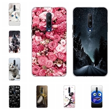For OnePlus 7 Pro Phone Case Ultra-thin Soft TPU Silicone Cover Geometric Patterned Coque