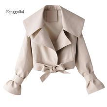 New Fashion Jacket Women Autumn Winter Coat Long-Sleeved Fashionable Large Lapel Bow Short Jacket Outwear цена 2017