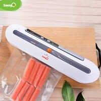 SaengQ meilleur alimentaire scelleur sous vide Machine d'emballage cuisine à domicile 220 V/110 V Film scelleur sous vide emballage comprenant 10 pièces sacs