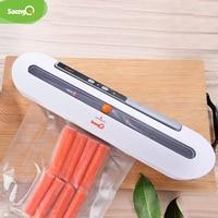 saengQ Best Food Vacuum Sealer Packaging Machine Home Kitchen 220V/110V Film Sealer Vacuum Packer Including 10Pcs Bags