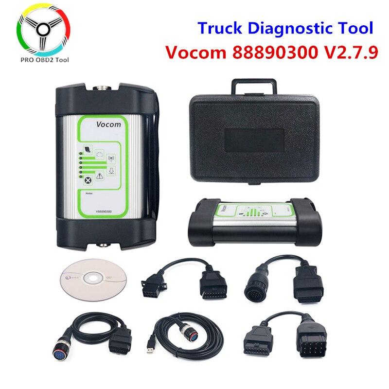 Vocom-Interfaz de diagnóstico de camiones, herramienta de diagnóstico de camiones para UD/Mack, Volvo Vocom V2.7.9, versión Vocom 88890300, Envío Gratis