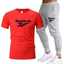 Agasalho casual masculino roupas de verão roupas esportivas conjunto de duas peças t camisa marca trilha roupas masculinas ternos esportivos S-3XL