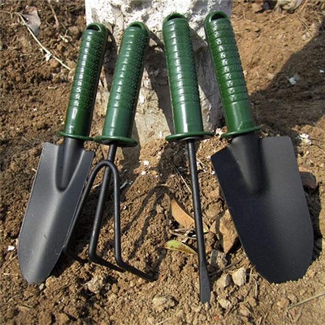 FIRMOR 4Pcs Garden tool set Flower Planting Combination Shovel Tool Set Tool Sets Mini Gardening Plant Tools Shovel Rake Spade 2