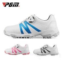 PGM обувь для гольфа для мальчиков и девочек; водонепроницаемые кроссовки для тренировок; детская Нескользящая спортивная обувь на мягкой подошве для гольфа; D0846