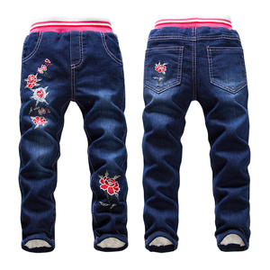 Image 2 - Hot Sale Boys Jeans Casual Child Plus Velvet Pants Winter Kids Jeans Boys 2 14Y Girls Thicking Warm Denim Trousers Teen Clothes