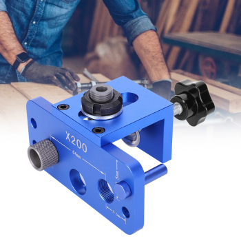 3 In 1 Drill Guide Woodworking Hole Punch Aluminum Alloy 6061 Hole Puncher Locator Woodworking Tool friends pastoral three in one punched locator log tenon punched drill woodworking cabinet drawer in tapper
