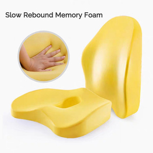Image 5 - Memory Foam 2 Pcs Orthopedic Pillow Set Office Chair Cushion Coccyx Pad Car Seat Mats Hemorrhoid Vertebra Spine Protect Cushion
