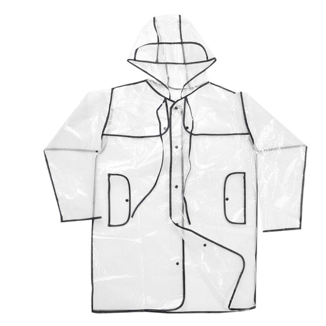 Best Selling Camping Men And Women Outdoor EVA Soft Transparent Fashion Raincoat Cloak Outdoor fashion transparent raincoat  4