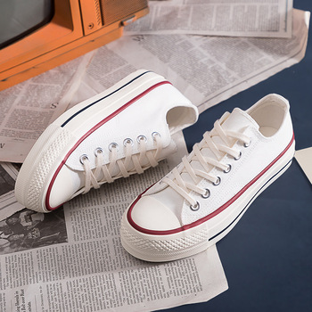 Low-cut Thick-soled Canvas Vulcanized Shoes Ladies Spring All-match Breathable Comfortable Student Casual Sports Shoes EA-16