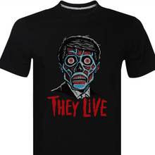THEY LIVE 1980S Cult Film Movie Sci Fi Horror John Carpenter Mens T-Shirt Hip Hop Clothing Cotton Short Sleeve T Shirt Top Tee