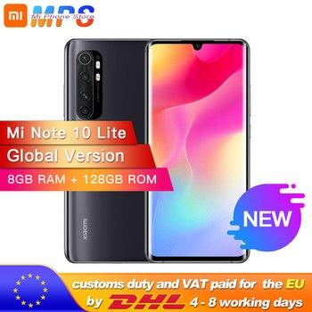 Купить Глобальная версия смартфона xiaomi mi Note 10 Lite, 8 Гб 128 ГБ, Восьмиядерный процессор Snapdragon 730G, 64mp четыре камера, 5260 мАч, AMOLED экран 6,47 дюйма