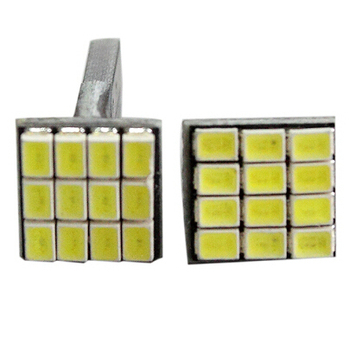 Bright T10 3020 12 SMD LED Car Turn Signal Light Auto Wedge Lamp Bulb White External Lights 2 Pcs image