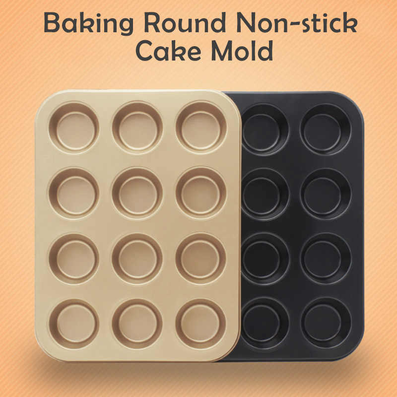 Máy Nướng Mini Muffin Bánh Nướng Bánh 6/12/24 Lỗ Cupcake Khuôn Không Dính Nướng Món Ăn Thép Carbon Lò Khay bánh Ngọt Dụng Cụ 316