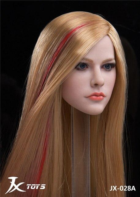 1/6 JXTOYS-028 femme fille Sexy européenne américaine beauté dame chanteur Avril tête sculpter sculpté pour 12