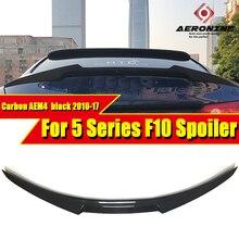 F10 Spoiler rear lip wings Carbon fiber M4 style For BMW 5 series 520i 525i 528i 535i 550i rear trunk Spoiler wing Lip 2010-2017 for bmw 5 series 535i 550i e61 rear air ride suspension air spring bag 2008 2010
