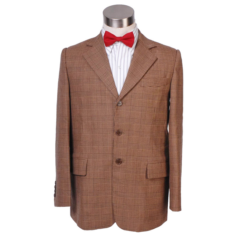 CosDaddy Eleventh Doctor Cosplay Costume Men's Glen Plaid Blazer Jacket Doctor Costume