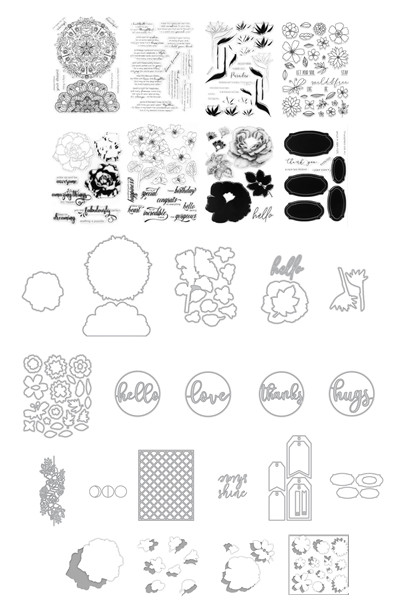 flower Transparent Clear Stamps and dies for DIY Scrapbooking/Card Making/Kids Christmas Fun Decoration Supplies
