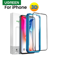 Ugreen para iphone 7 x xs vidro protetor no iphone 7 6 plus xs max 11 pro max 6s 8 plus xr 3d protetor de tela vidro temperado
