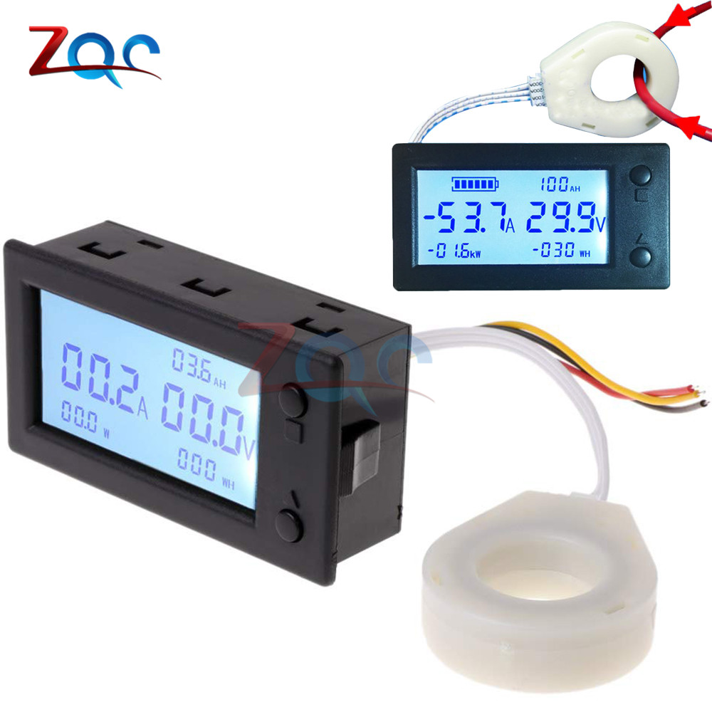 Цифровой вольтметр Амперметр постоянного тока 300 в а емкость аккумулятора кулометр мощность электрической энергии ватт таймер Холл куломе...