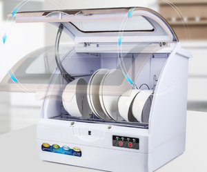 Image 5 - Voll automatische haushalt spülmaschine desktop kleine wärme desinfektion spray typ geschirr maschine