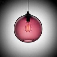 분위기 빈티지 산업 유리 공 펜 던 트 조명 6 색 LED 조명기구 부엌 욕실 연구 거실 카페
