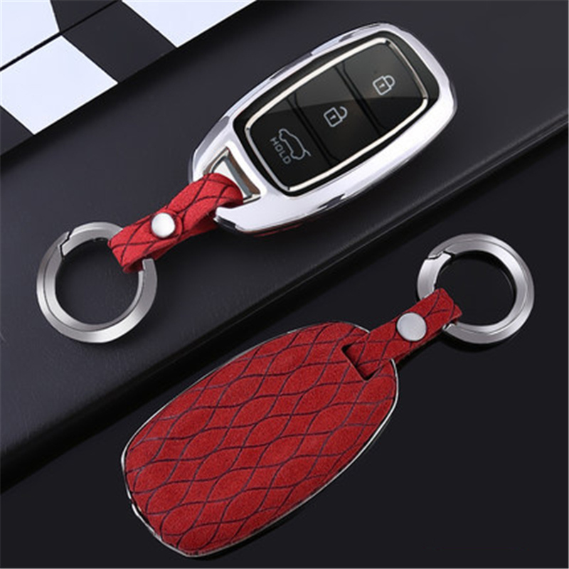 <font><b>2019</b></font> Car key <font><b>case</b></font> Flip fur <font><b>For</b></font> <font><b>Hyundai</b></font> Verna Sonata <font><b>Tucson</b></font> Fe TM 20 Solaris Azera Grandeur i30 i35 iX20 AUTO styling Accessories image
