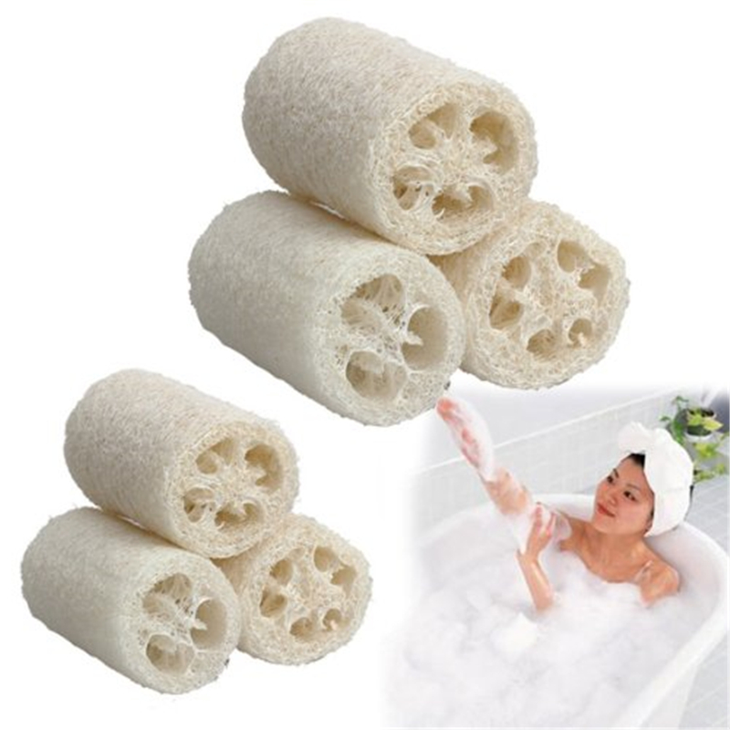 1pc/lots Natural Loofah Luffa Loofa Bath Body Shower Bathing Massage Spa Scrubber Horniness Remover Bathing Massage Sponge